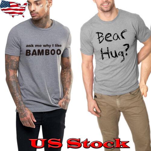 Men/'s Short Sleeve Bear Hug Slim Fit O Neck Tee Shirt Casual Tops Blouse T-shirt