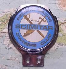 Vintage Chrome Car Mascot Badge : Reliant Sabre and Scimitar Owners Club
