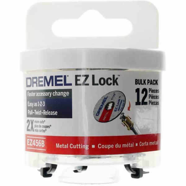 "Dremel EZ456B - EZ Lock 1-1/2"" Cut-off Wheels 12 Pk 2615E456AF - Hot Price"
