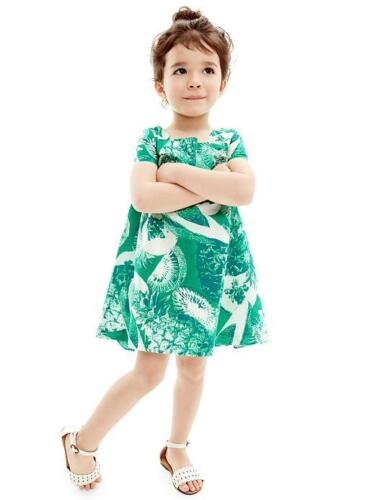 NWT $30 Baby GAP Girls Photo-real Fruit Pineapple Green Dress 2T