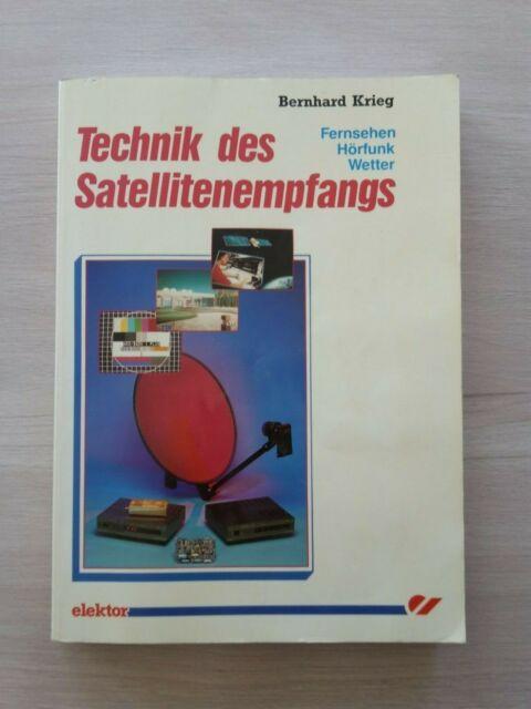 ++ Buch Technik des Satellitenempfangs Bernhard Krieg Fernsehen Hörfunk Wetter++