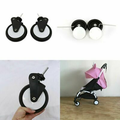 Pair Front Wheels Rear Wheels Rubber for Yoya Plus Kid Pram Stroller Pushchair