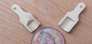Bien 1:12 Échelle 2 En Bois Boules 2 Cm X 0.8 Cm Tumdee Maison De Poupées Miniature Cuisine-afficher Le Titre D'origine