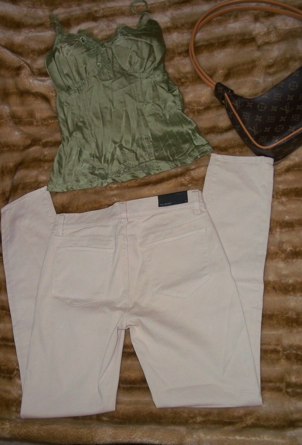 Womens Ann Taylor  Beige Skinni   Pants Size 4