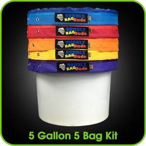 BUBBLEBAGDUDE-Bubble-Bags-5-Gallon-Hash-Bag-Set-Herbal-Ice-Essence