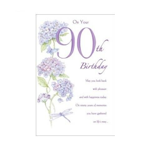 90th Birthday Greetings Card