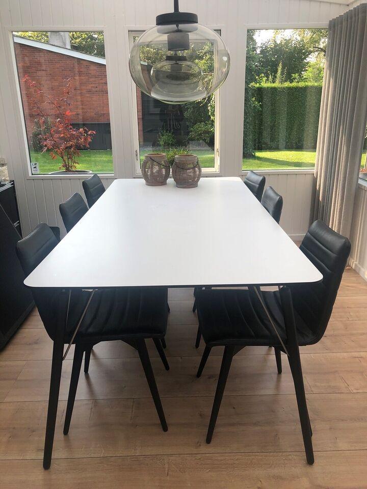Spisebordsstol, Læder/ træ, Ilva