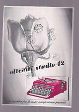 pubblicità originale OLIVETTI STUDIO 42 1939