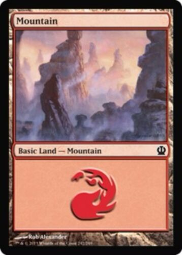 Theros Basic Land Your Choice of Art MP to SP 20x Mountain