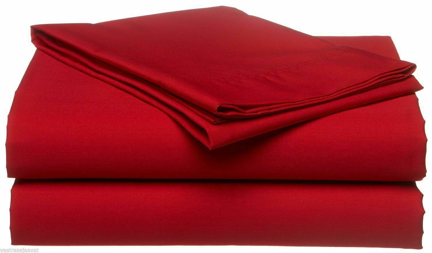 1000 TC EGYPTIAN COTTON4PC SHEET SETRED SOLID RV CAMPER & BUNK BED ALL SIZE