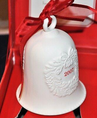 HALLMARK 2007 White Porcelain Christmas Ornament Bell ...