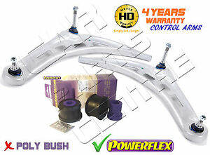 FOR-BMW-3-SERIES-E46-FRONT-MEYLE-HD-BOTTOM-LOWER-WISHBONE-ARMS-POWERFLEX-BUSHES