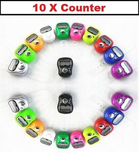 10 x anneau de doigt numérique compteur enregistreur effectifs ligne compteur tasbe job lot  </span>