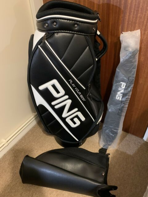 Ping Golf Caddy Carry Sports Bag 9.5inch CB-U191 Black White, BRAND NEW