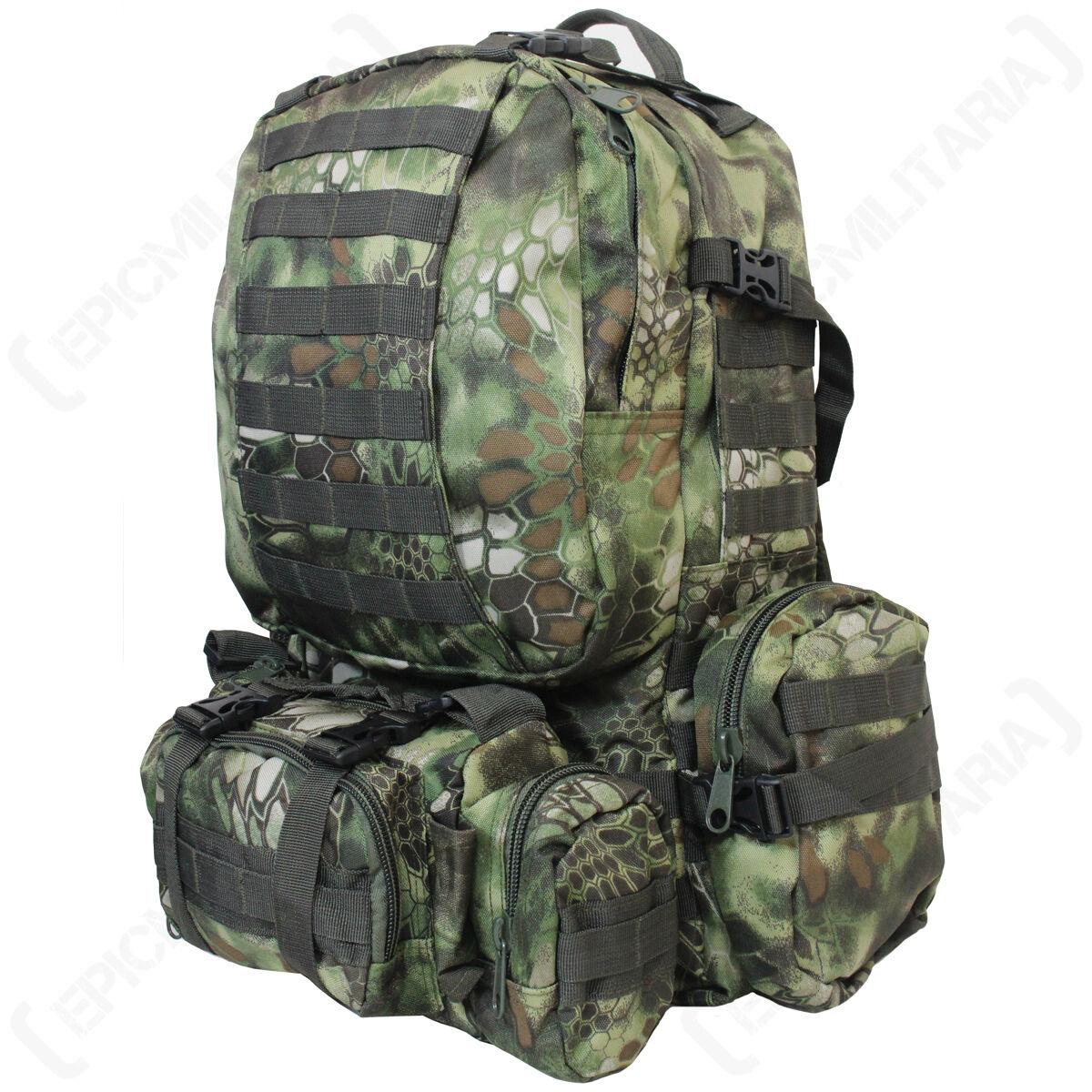 Mandra Woodland Camo MOLLE Defense Pack - Rucksack Backpack Tasche Military 36L