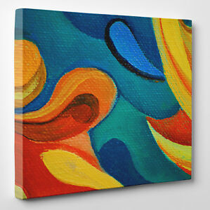Abstract Oil Painting Canvas Print Wall Art Ready To Hang Large Ebay