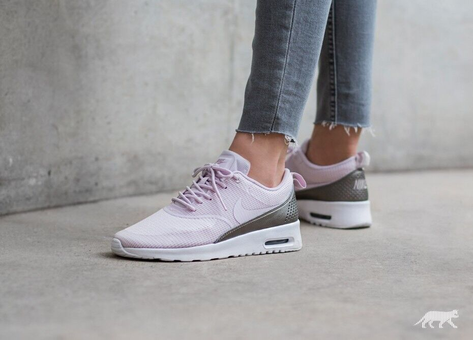 Nike Bir Max Thea Textile Bleached Lilac Uk Size 8.5 Eur 43 819639-501