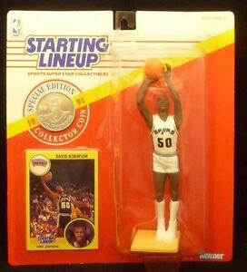 1991 DAVID ROBINSON - Starting Lineup -SLU -Sports Figurine - SAN ANTONIO SPURS