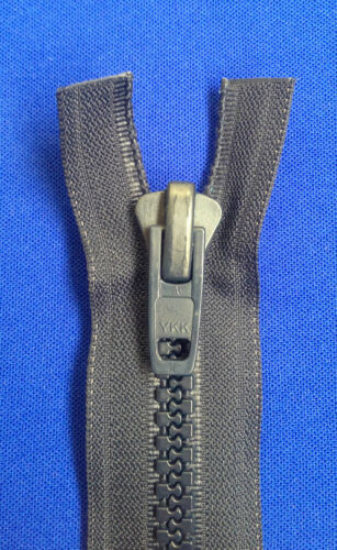 ZIP OPEN ENDED YKK ALL PLASTIC  NAVY NON RUST 10 WEIGHT  CHUNKY SOLID HEAVY DUTY