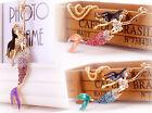 Necklace Betsey Choker Crystal Pendant Mermaid NEW Jewelry Johnson Shinny