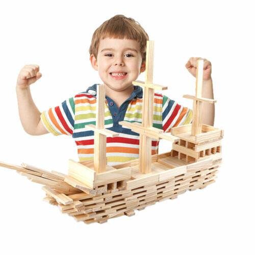 100 Pcs Wooden Building Blocks Set Development for Kids Classic Toy NEW 2019