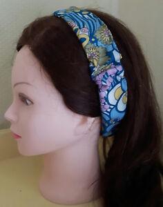 uk store outlet store new collection Détails sur Bandeau cheveux headband femme tissu vintage elastique
