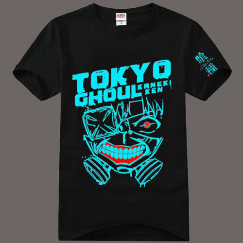 Anime Tokyo Ghoul Kaneki Ken Luminous Cotton T-Shirt Tee Shirts Tops Love Blouse