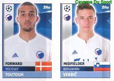 QFD11-12 VERBIC TOUTOUH FC.KOBENHAVN STICKER CHAMPIONS LEAGUE 2017 TOPPS