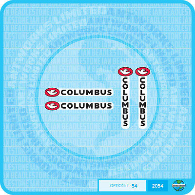 Set 17 Columbus AIR Bicycle Decal Transfer Sticker