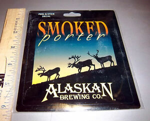 Alaska-Brewing-Co-Smoked-Porter-Peel-amp-Stick-Decal-sticker-nice-collectible