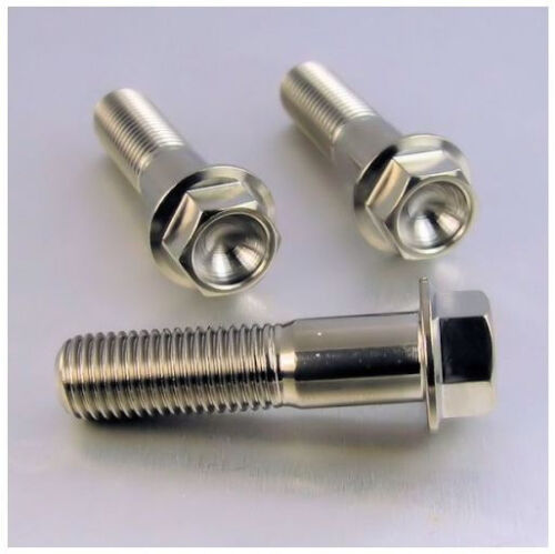 Titanium M6x 10 15 20 25 30 35 mm DIN 6921 tête hexagonale Bride Bolt Screw Fastener