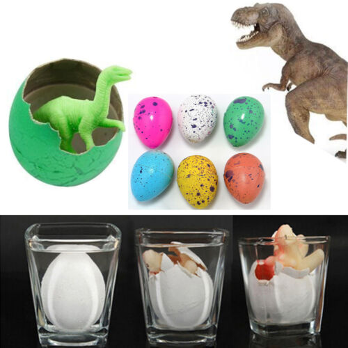 6pcs Magic Dino Eggs Growing Hatching Dinosaur Add Water Child Kids Toy
