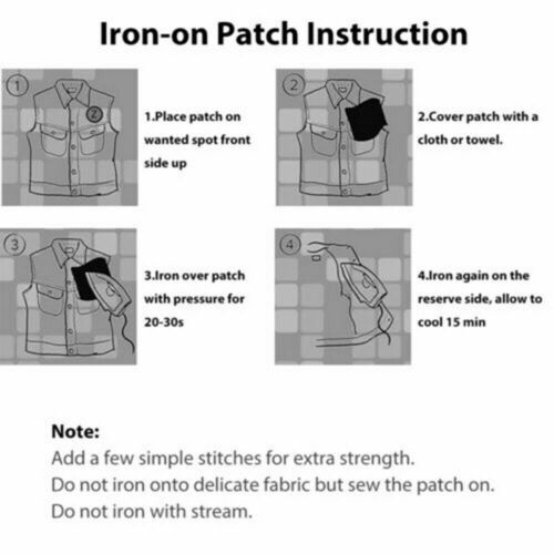 3x Iron On Repair Mending Trousers Cotton Denim Jeans Fabric Patches Quick Fix