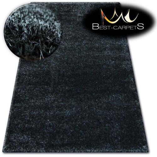 160 X 220 cm-Big venta 70/% Alfombras Shaggy Suave Esponjoso barato-el Melón Narin Negro