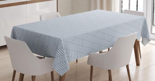 Streifen Tischdecke Diagonal Linien Muster Wasserfest