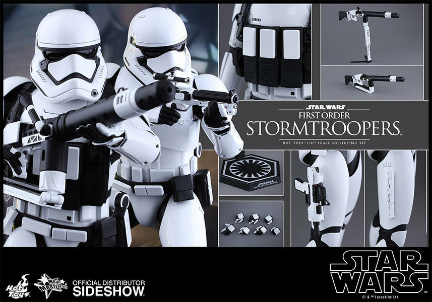 caliente giocattoli estrella guerras FIRST ORDER STORMTROOPERS 12 cifra Set 16 Scale MMS319