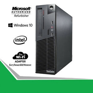 Lenovo-M81-SFF-Desktop-Computer-PC-Quad-Core-i5-3-2GHz-RAM-HDD-SSD-Windows-WIFI