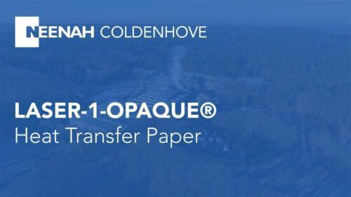 """Laser 1 Opaque for  Dark T-Shirt NEENAH Heat Transfer Paper 8.5/"""" x 11/"""" 5 Sheet"""