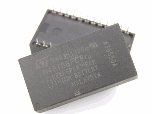 2pcs M48T86PC1 IC Real Time Clock M48T86PC TIME CLOCK SRAM DIP-24