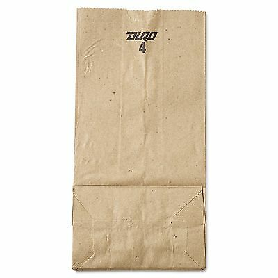 #4 Natural Brown Kraft Paper Merchandise / Grocery / Lunch Bags 500 ct