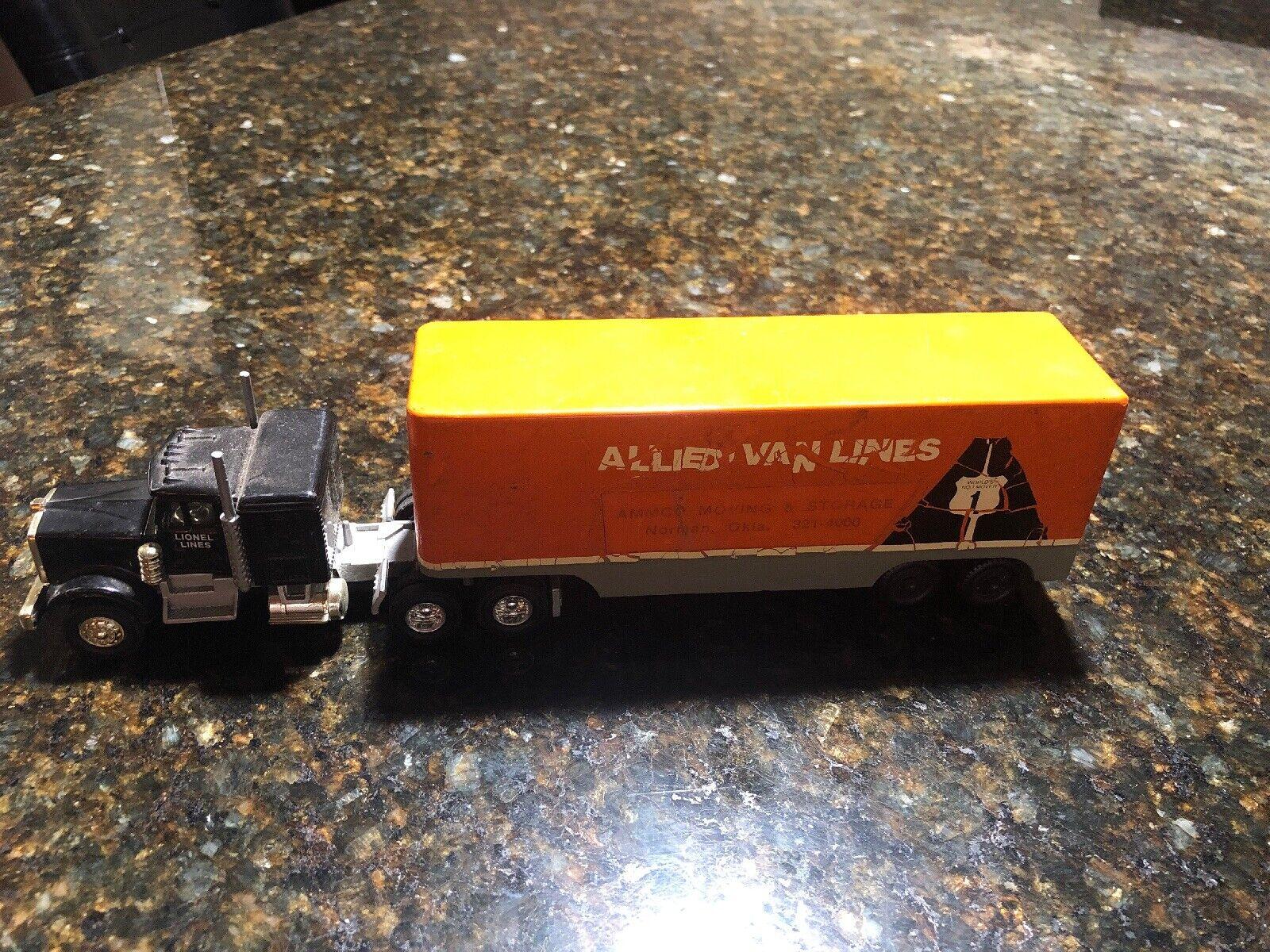RalsJuguete Ralston aliadas Van Lines camión Lionel líneas 18 Wheeler escasas escasas Escasas