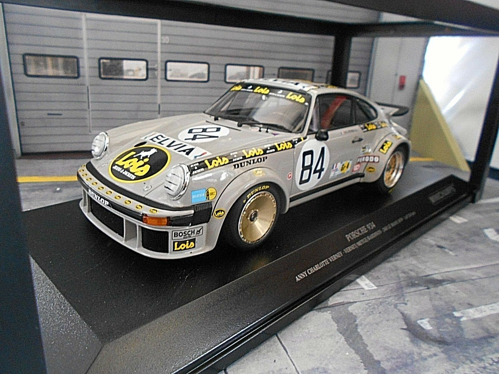 Porsche 911 934 turbo le mans  84 Lois Charlotte Verney Metge 79 Minichamps 1 18