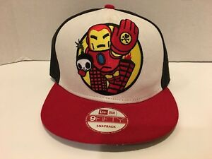 IRON MAN Rescue Mens Snapback Adjustable New Era Marvel Tokidoki HAT ... c478b01fd696