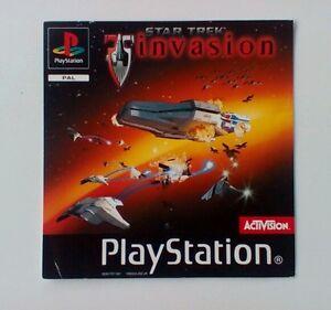 * Incrustation Avant Seulement * Star Trek Invasion Incrustation Avant Ps1 Psone Playstation-afficher Le Titre D'origine Lwghbxzs-07180019-295544025