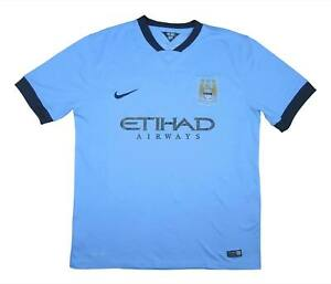 Manchester City 2014-15 Authentic Home Shirt (OTTIMO) XL soccer jersey