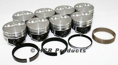 """Sealed Power Chevy 327 4.040/"""" Flat Top 2 VR Pistons /& Moly Ring Kit SBC H660CP40"""