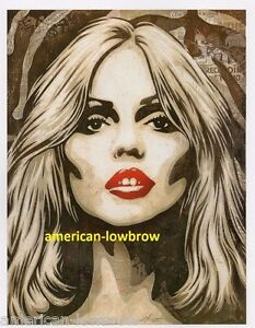 OBEY-Giant-Shepard-Fairey-mini-Art-Poster-Print-Debbie-Harry-Zebra-Skin-Blondie