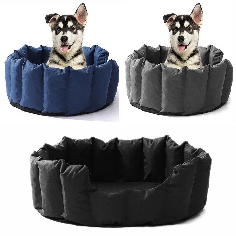 Oxford Dog Pet Cat Beds Waterproof Washable Hardwearing Basket Mat Cushion Nest