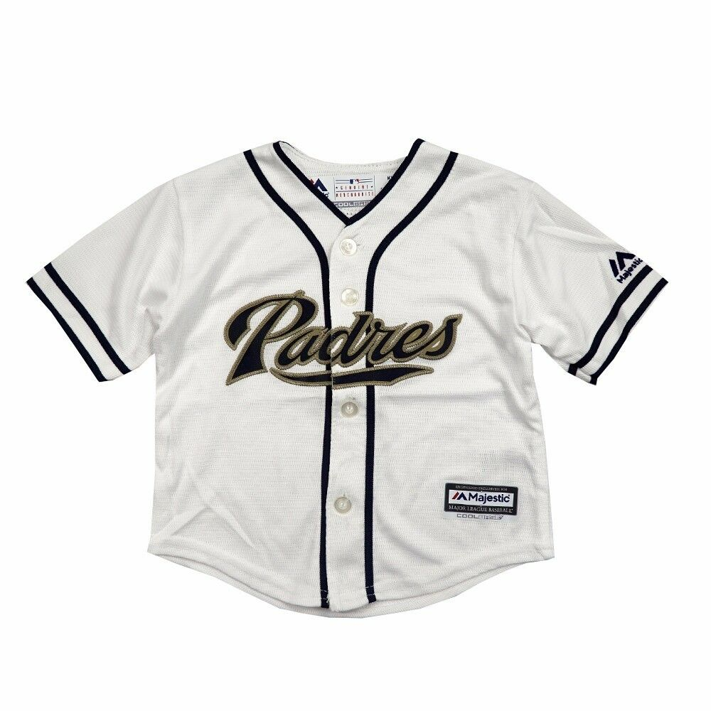 quality design 873fa 00241 San Diego Padres MLB Majestic Athletic Infant White Home ...