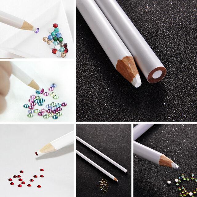 2pcs DIY Crafts Nail Art Tool Rhinestones Crystals Gems Wax Picker ...